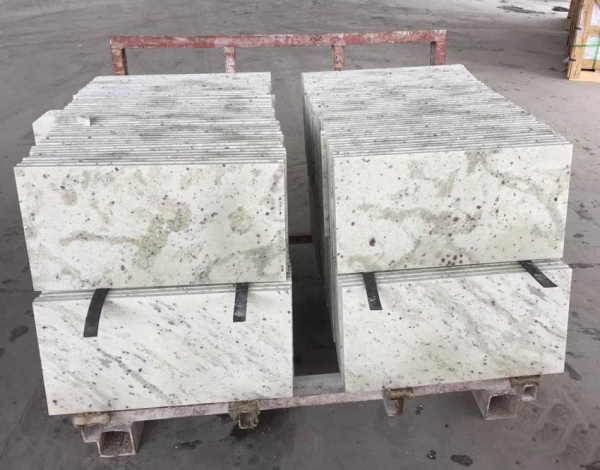 Quality Import Andromeda White Granite Tiles Thickness 2cm for sale