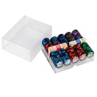 Buy cheap 200pcs Leaf Clay Poker Chip Set In Acrylic Chip Case from Wholesalers