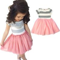 Buy cheap Unique grey joint pink grenadine baby girl birthday dresses from wholesalers
