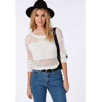 Buy cheap New collection 2017 summer knitting lady blouse mesh cropped knitted jumper from wholesalers