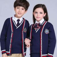 Buy cheap High quality OEM uniform cable knitting fashion british style junior school uniform from wholesalers