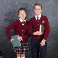 Buy cheap Formal design cardigan with plaid skirt school uniform set from wholesalers