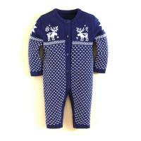 Buy cheap 0-3 months newborn clothing dot design baby knitted rompers from wholesalers