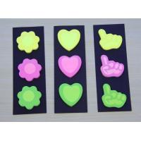 with bottom card series  black card with die cut shape