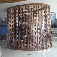 Buy cheap steel rose gold welding partition grid, Chinese classical black mirror steel screen from Wholesalers