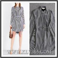 Buy cheap European Fashion Spring Women Long Sleeve Striped Casual Dress from wholesalers