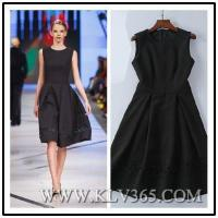 Buy cheap China Wholesale Women's Summer Sleeveless Black Embroidery Elegant Dress from wholesalers