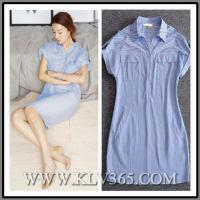 Buy cheap High Quality Women Clothing Fashion Striped Casual Shirt Dress for Summer from wholesalers