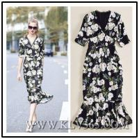 Buy cheap Wholesale Designer Women Lady Summer V Neck Sexy Mermaid Floral Long Maxi Dress from wholesalers