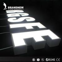 Laser cut stainless steel signs face lit channel letters led illuminated signs