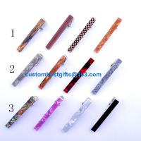 China 2.3cm 2.5cm 4cm 5.1cm 5.4cm brass tie bar with acrylic design factory