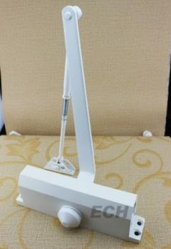 Quality door hardware White Aluminum Door Closer (DEC-073) for sale