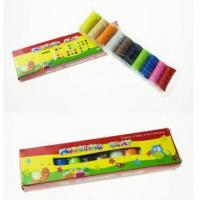 Buy cheap Clay & Plasticine 10 COLORS WITH TRANSPARENT TRAY 200g kids clay plasticine from Wholesalers