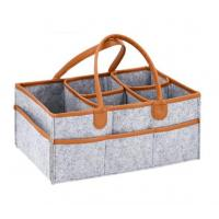 Buy cheap New Design Leather handle baby diaper caddy organizer from Wholesalers