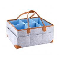 Buy cheap Leather handle baby diaper caddy organizer from Wholesalers