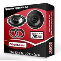 China Ford KA Rear Door speakers Pioneer car speakers + adapter anello pods 300W on sale