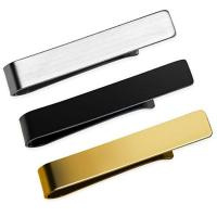 China custom logo metal men tie bar clips with gift box factory