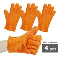 Buy cheap 2-Pack Silicone Heat Resistant Oven Mitt Gloves from Wholesalers