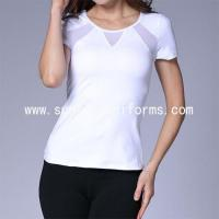 Buy cheap short sleeve plain design 100% cotton women t shirt from wholesalers