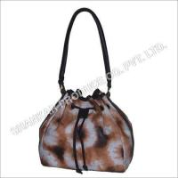 China Leather Tie & Die Hand Bag factory
