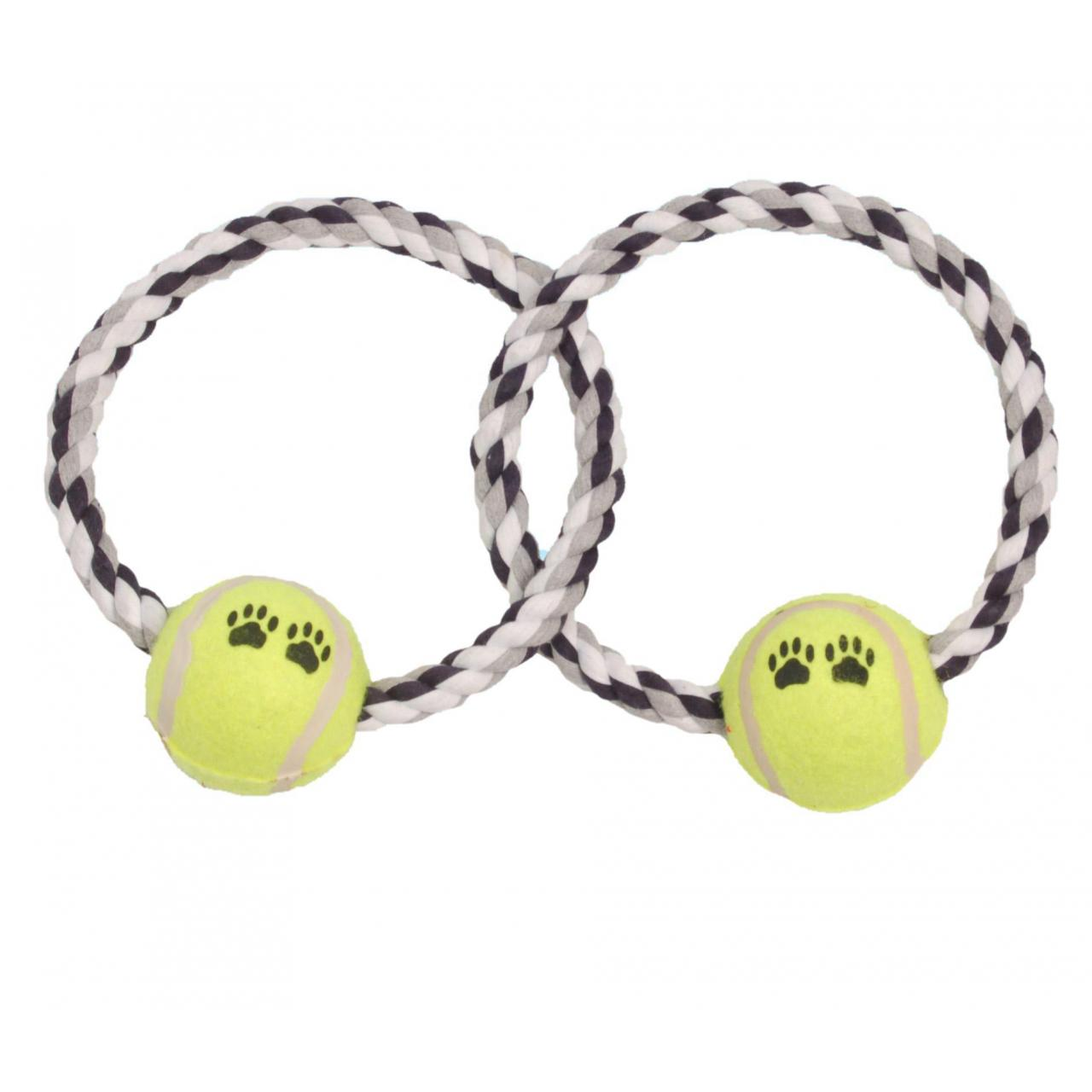 Buy cheap Dog toy Crossed Round Dog Rope Toy Ball from wholesalers