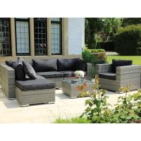 Buy cheap Popular design adjustable outdoor wicker furniture lounge set with table from wholesalers