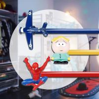Buy cheap DT0034 Spiderman kids curtain rod from Wholesalers
