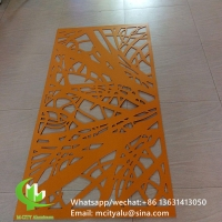 China PVDF Tree design Decorative perforated sheet metal panels privacy screen decoration factory