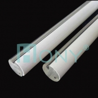 China HONYClear/Opal double color Acrylic round solid rod LED light diffuser for decoration factory